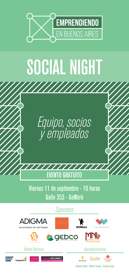 Flyer de emprendiendo en bs as